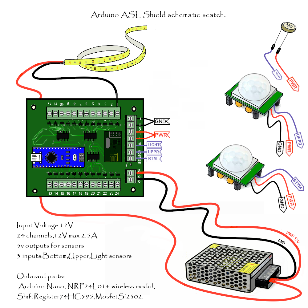 Surprising Automatic Stairs Led Lighting Arduino Shield Openhardware Io Wiring Database Wedabyuccorg