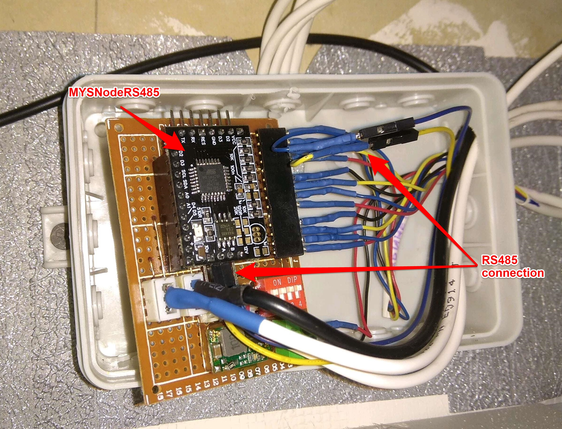 ALARM module with RS485 node