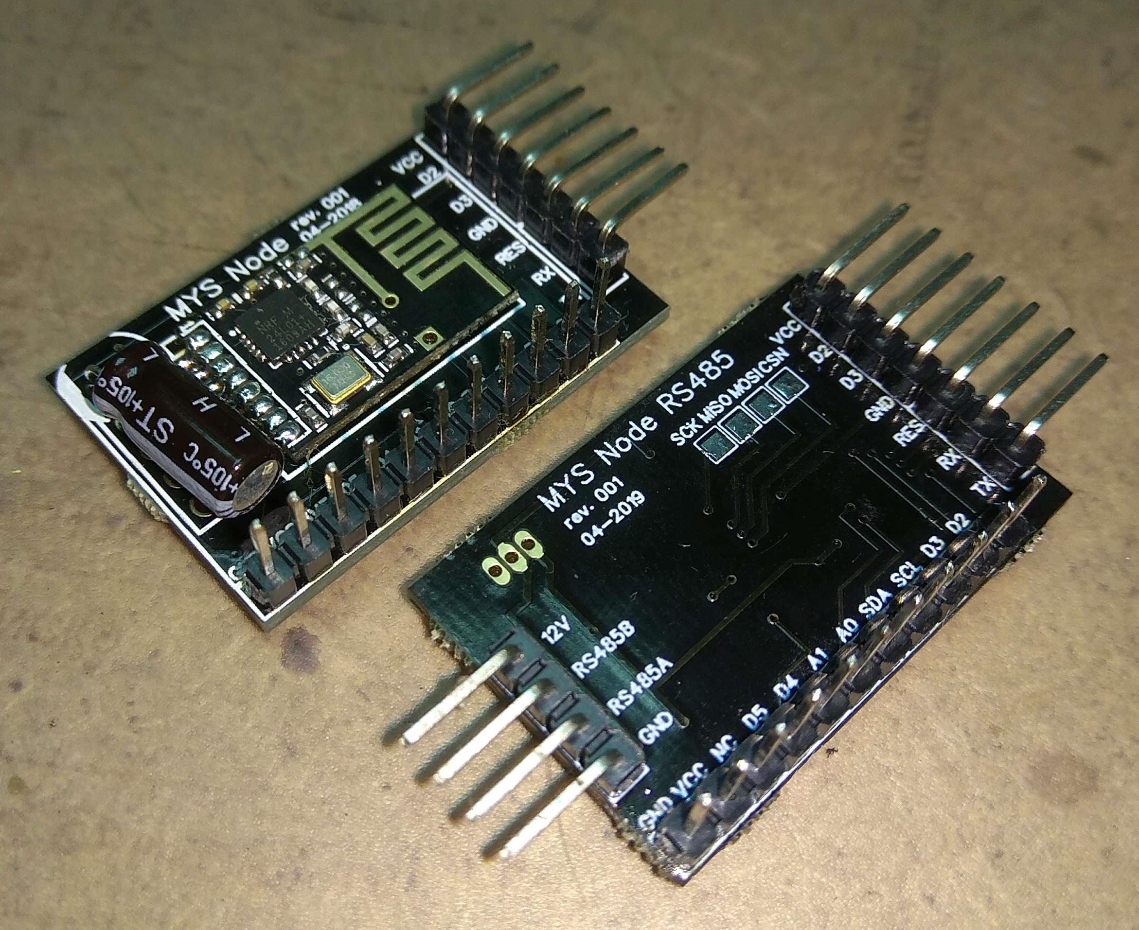 485 node compared to RF24 Node