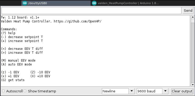 console help screenshot