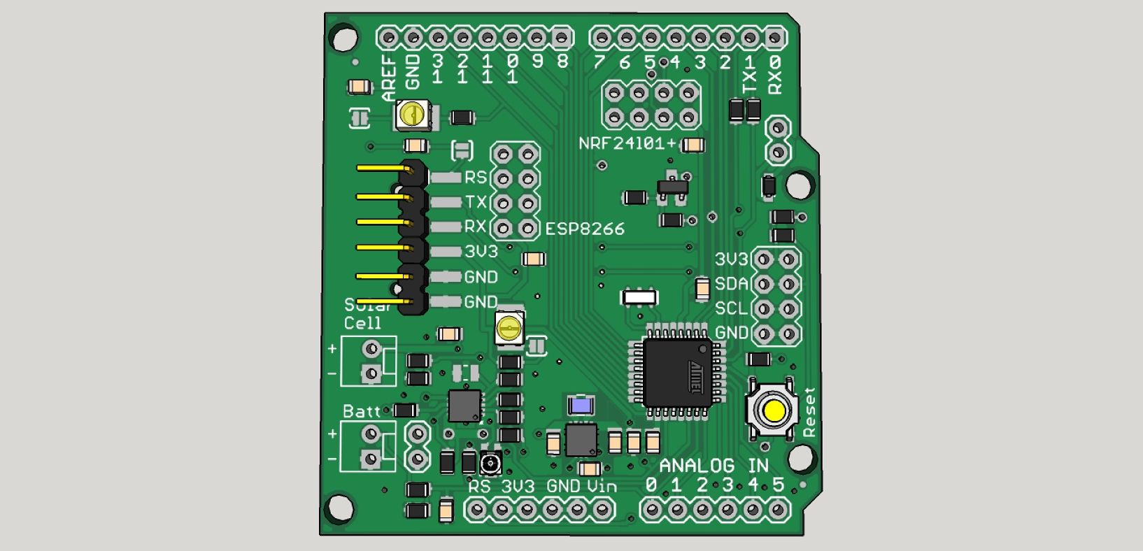 Solar Powered Sensor Board Enables Open Source Arduino Circuit Pull Up Resistor Battery Charger Github