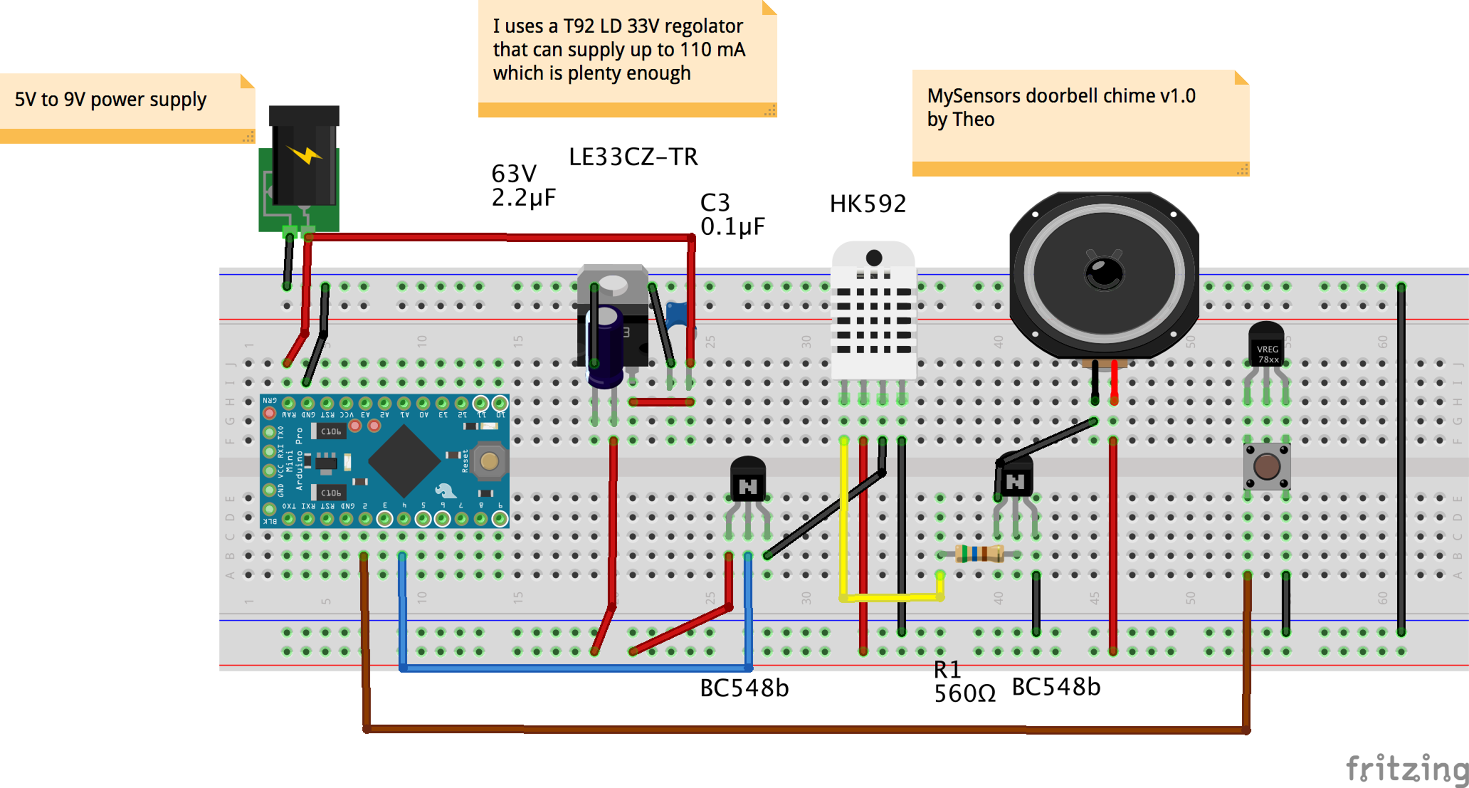 Mysensors Oldskool Electronic Components Doorbell Chime Amp Wiring Diagram Enables Open Source Hardware Innovation
