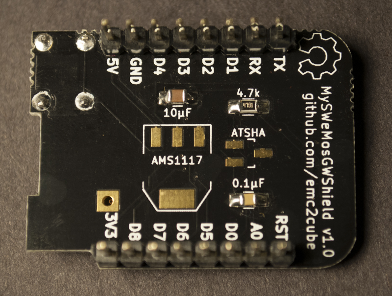 PCB back view