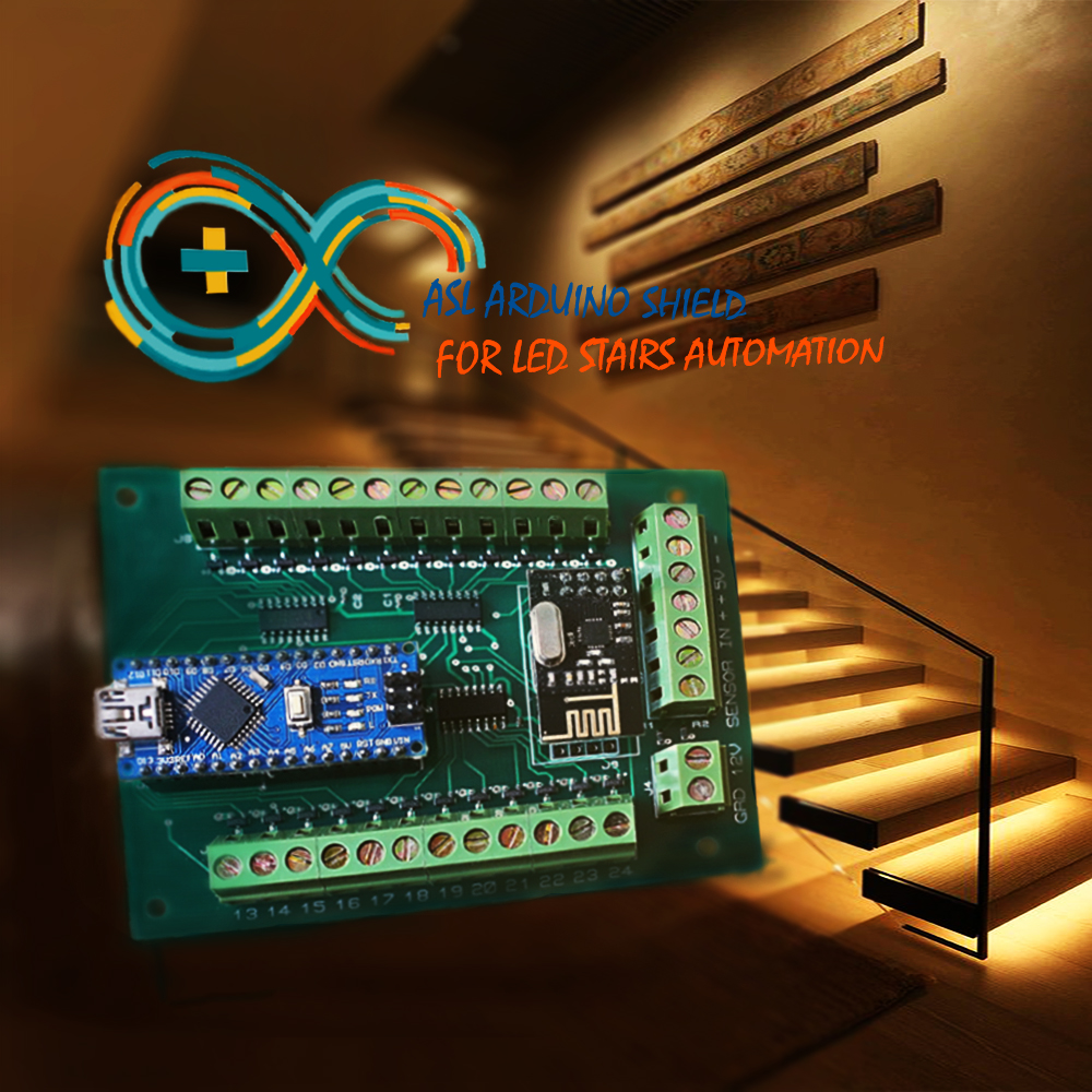 Stair Lights With Arduino: Automatic Stairs Led Lighting Arduino Shield