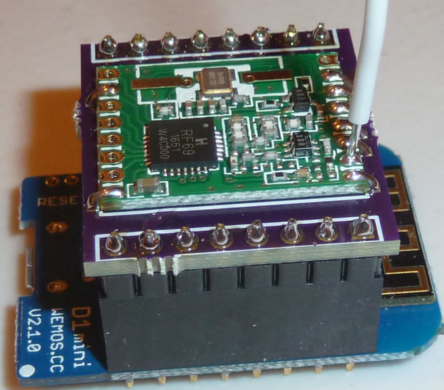 Minimalist RFM69(H)W Shield for Wemos D1 Mini   OpenHardware