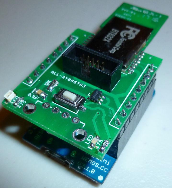 PA-LNA nRF52832 ESP-LINK Shield for Wemos D1 Mini ESP8266